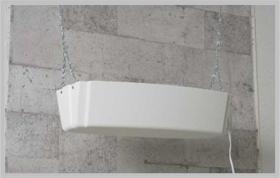ラックライト(誘虫ランプ)+捕虫紙タイプ:中型捕虫器